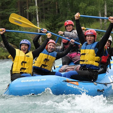 Familien-Rafting in Sjoa