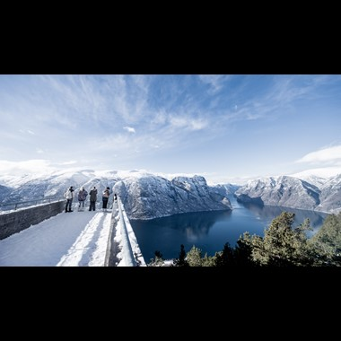 Experience the Aurlandsfjord on the Norway in a nutshell® winter tour by Fjord Tours - Flåm, Norway