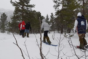 On snowshoes in Hardanger - Hardangerfjord in a nutshell winter tour by Fjord Tours - Eidfjord, Norway