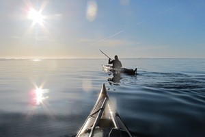 Guided winter kayak trip in Bergen