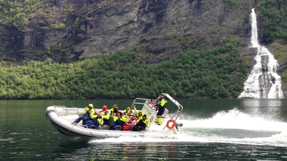 RIB-boat Tour on the Geirangerfjord