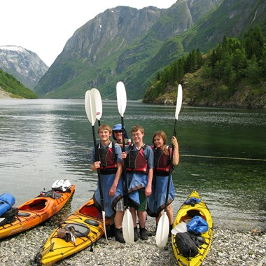 Half day kayak tour in Gudvangen