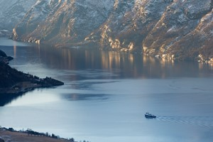 Fjord Cruise on the Aurlandsfjord - Sognefjord in a nutshell winter tour by Fjord Tours - Aurland, Norway