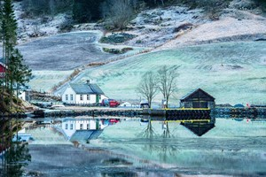 Winter by the Aurlandsfjord - Aurland, Norway