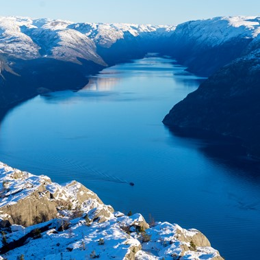 Invierno en el fiordo de Lyse - Stavanger, Noruega