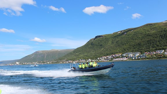 Tromso sightseeing by boat