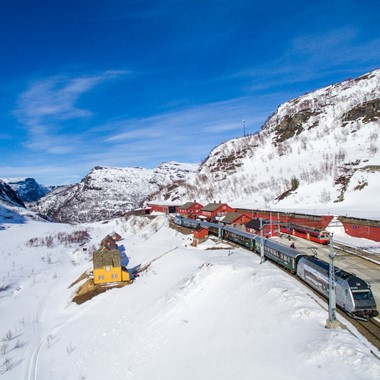 The Flåm Railway at Myrdal Station  - Norway