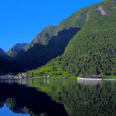 Norway in a nutshell® - Electric fjord cruise on the Nærøyfjord