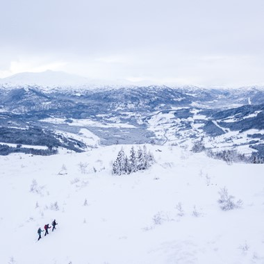Snowshoe hike at the Hangursfjellet Mountain - Explore Voss - Voss, Norway
