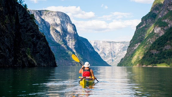Kayaking on the Næroyfjord - Gudvangen, Norway