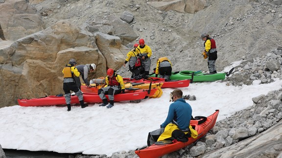 Glacier kayaking and hiking at Folgefonna