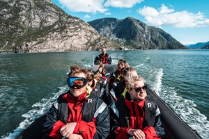 Rib tour on the Hardangerfjord from Odda - Norway