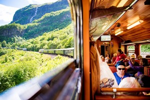 People on the Flåm Railway - Norway