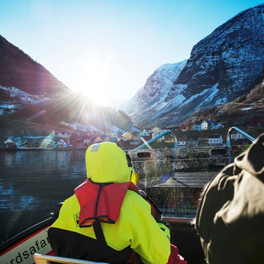 Vinter fjord safari i Flam