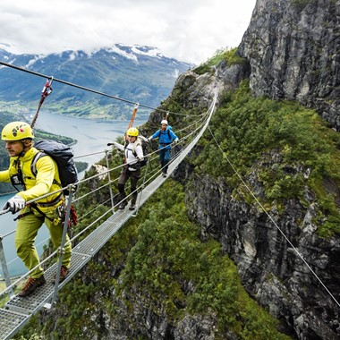 Experience Via Ferrata Loen with Fjord Tours on the Epic Fjord & Rail tour  - Loen, Norway