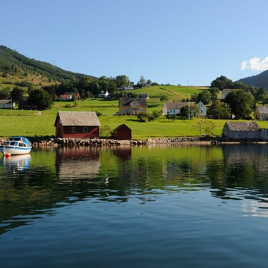 Rosendal from sea side  - Rosendal, Norway