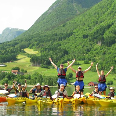 Kayaking day tour Gudvangen