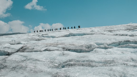 Glacier walk on the Tystig glacier