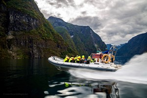 Fun rib boat tour on the Næroyfjord - Flåm, Norway, Norway in a nutshell® Family