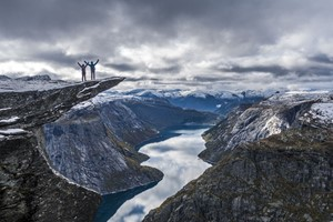 Experience the Trolltunga on the Hardangerfjord in a nutshell tour & Rosendal -Odda, Norway