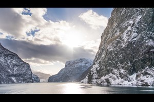 Experience the UNESCO Nærøyfjord on the Norway in a nutshell® winter tour by Fjord Tours - Flåm, Norway