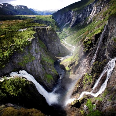Vøringfoss Waterfall in Eidfjord - Norway