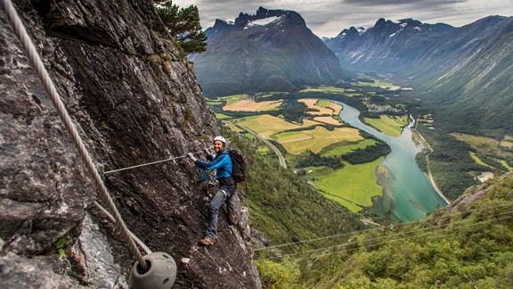 Romsdalstigen Via Ferrata - The West Wall