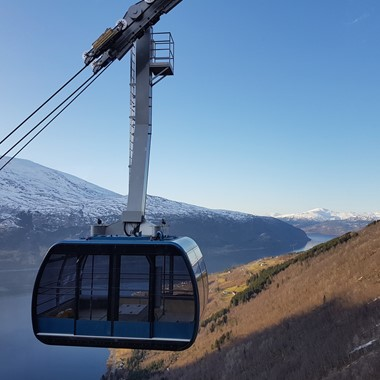 Experience the Cable Car Loen Skylift on the Epic Fjord & Rail tour - Loen, Norway
