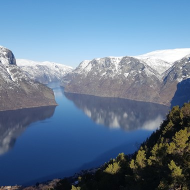 Experience the Aurlandsfjord on the Sognefjord in a nutshell winter tour by Fjord Tours - Aurland , Norway
