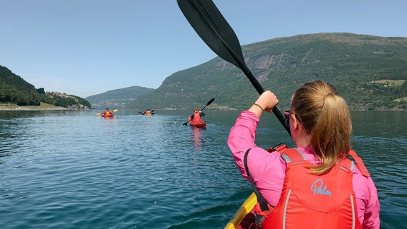 Guided kayak trip in Nordjord - Olden, Norway