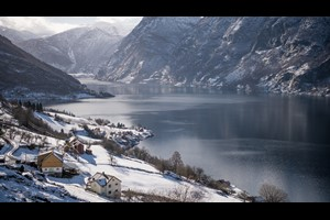 Experience the picturesque Flåm on the Norway in a nutshell® winter tour by Fjord Tours - Flåm, Norway