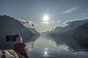 Winter sun - Hardangerfjord in a nutshell winter tour by Fjord Tours - Hardanger , Norway