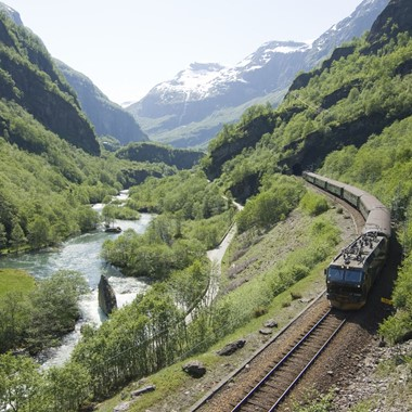 Experience the scenic Flåm Railway on the Norway in a nutshell® tour by Fjord Tours