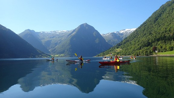 Kayaking in Balestrand, Norway