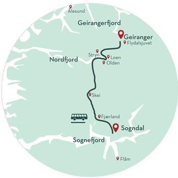 Maps Of Norway Fjord Tours