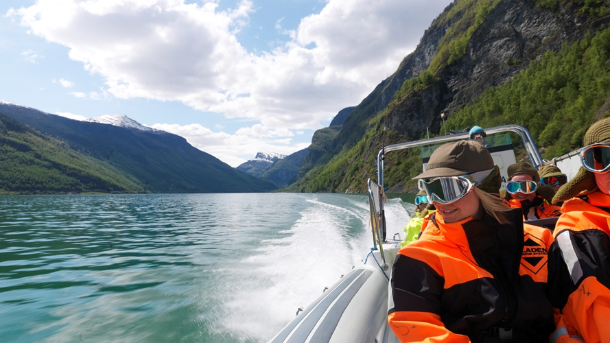 Welterbe RIB-boot tour in Flåm
