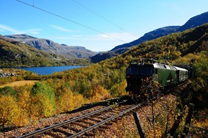 Autumn on the Flåm Railway, Norway