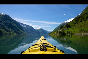 Kayaking on the Sognefjord - Sognefjord, Norway