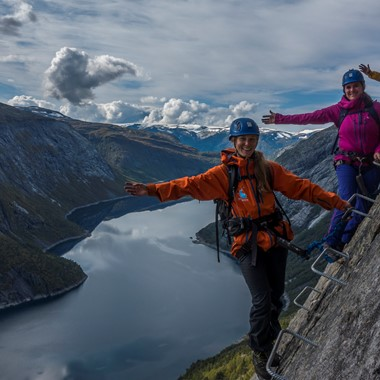 Via Ferrata to Trolltunga, Odda - Norway