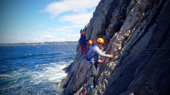 Guided Via Ferrata winter Tour