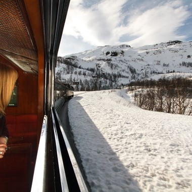 Experience the great Flam Railway on the Norway in a nutshell® winter tour  - Flåm, Norway