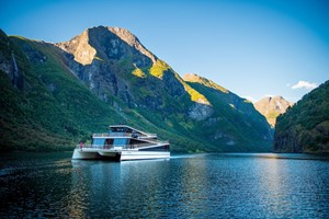 "Experience the Nærøyfjord with electric ""Vision of the fjords"" on the Norway in a nutshell® tour by Fjord Tours"