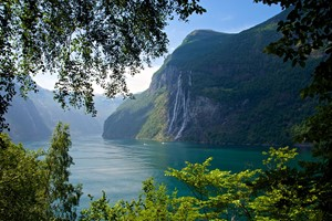 The seven sisters waterfall seen from Skageflå farm - Geirangerfjord, Norway
