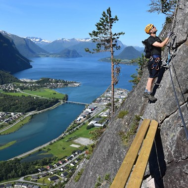 On the West Wall, the Epic Fjord & Rail tour  - Åndalsnes, Norway