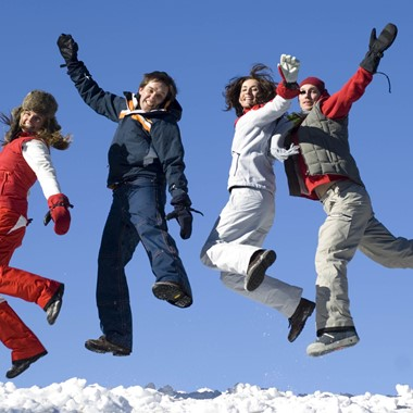 Jumps of joy -  Hardangerfjord in a nutshell winter tour by Fjord Tours - Eidfjord, Norway