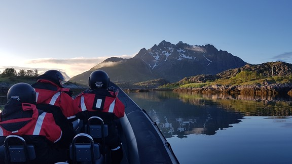 Midnight safari in Lofoten -RIB