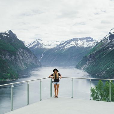 Experience Ljøen Viewpoint with Fjord Tours on the Epic Fjord & Rail tour  -  Hellesylt, Geirangerfjord - Geiranger, Norway