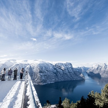 View from Stegastein viewpoint-  Aurland, The Sognefjord