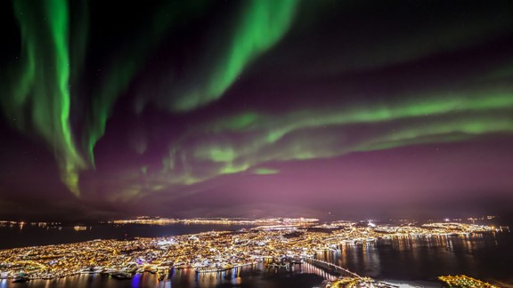 Northern lights cable car excursion tromso