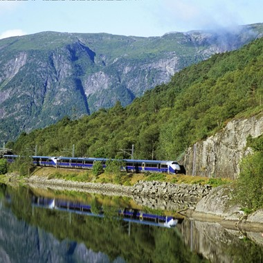Train on Bergen Railway - Norway